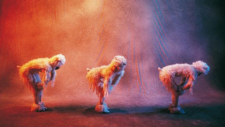 Les moutons, habillage signée Hélène Guétary, sur une bande son de Nova/Andrew Orr, 1992