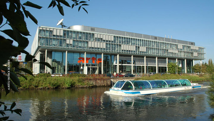 Siège d'ARTE GEIE à Strasbourg, conçu par l'architecte Hans Struhk
