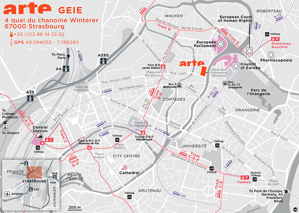 Directions to ARTE GEIE in Strasbourg