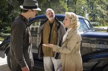 Josh Hartnett, Scarlett Johanssen et Brian De Palma sur le tournage du Dahlia noir