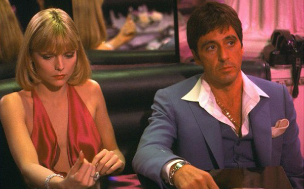 Michelle Pfeiffer And al Pacino Scarface Michelle Pfeiffer And al