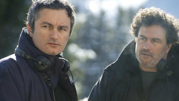 Jean-Marie et Arnaud Larrieu sur le tournage de L'amour est un crime parfait