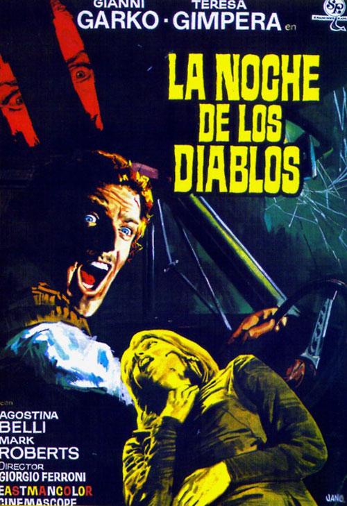 Affiche espagnole de La Nuit des diables