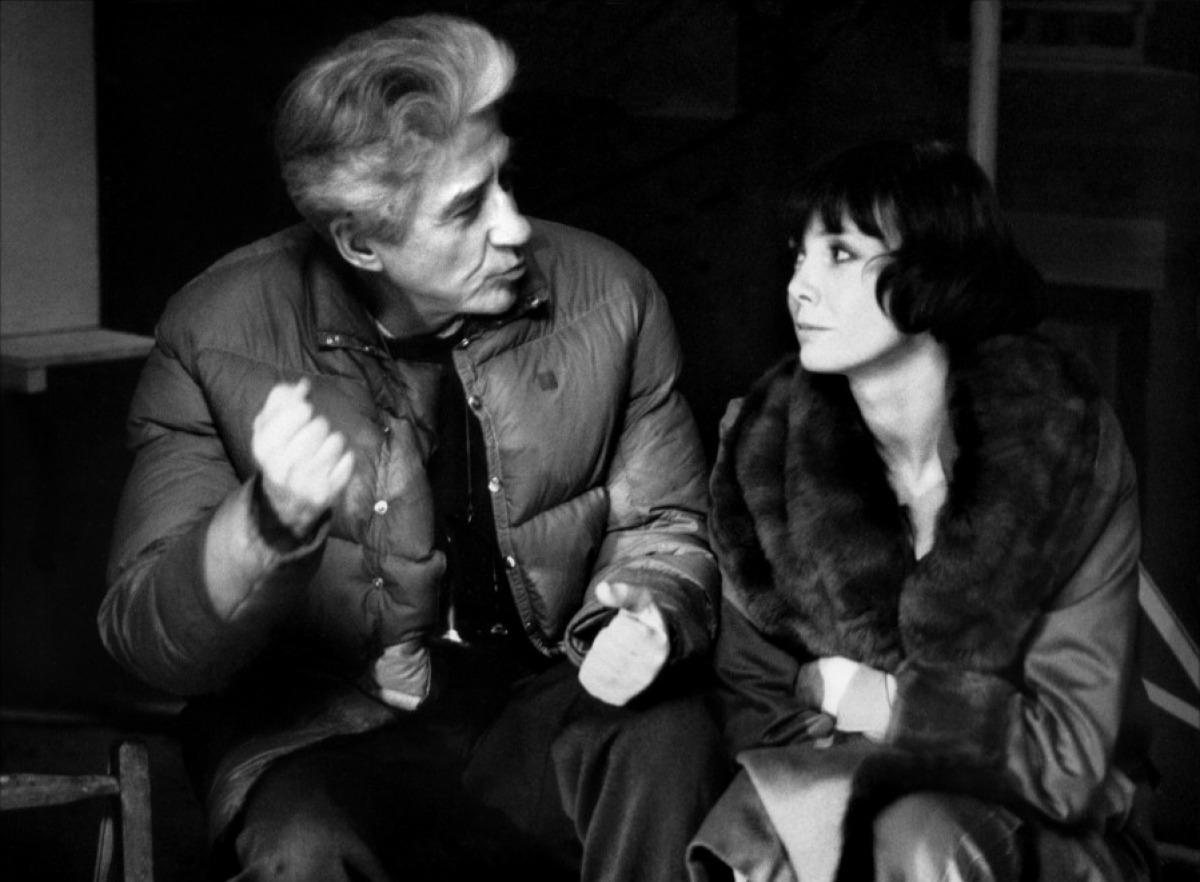 Alain Resnais et Sabine Azéma sur le tournage de Mélo