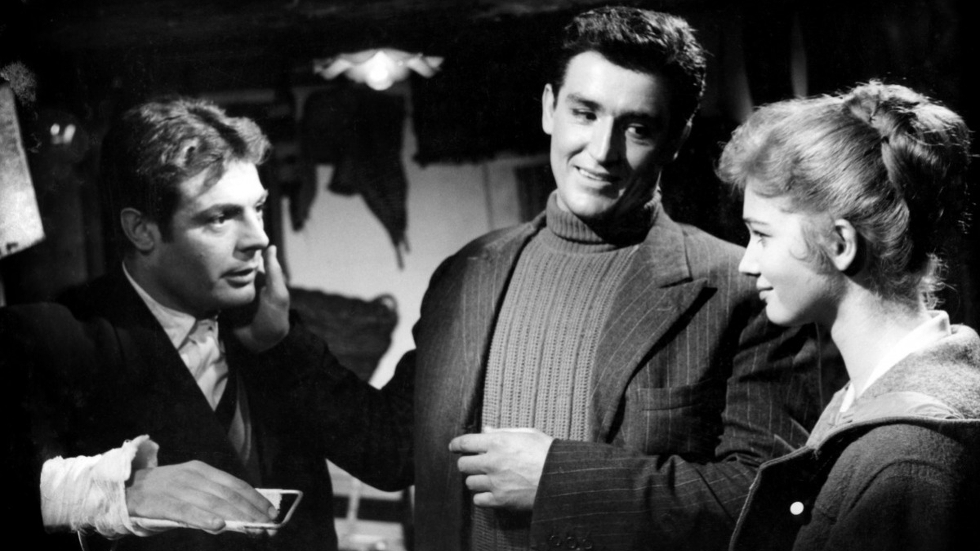 Marcello Mastroianni, Vittorio Gassman et Carla Gravina dans Le Pigeon