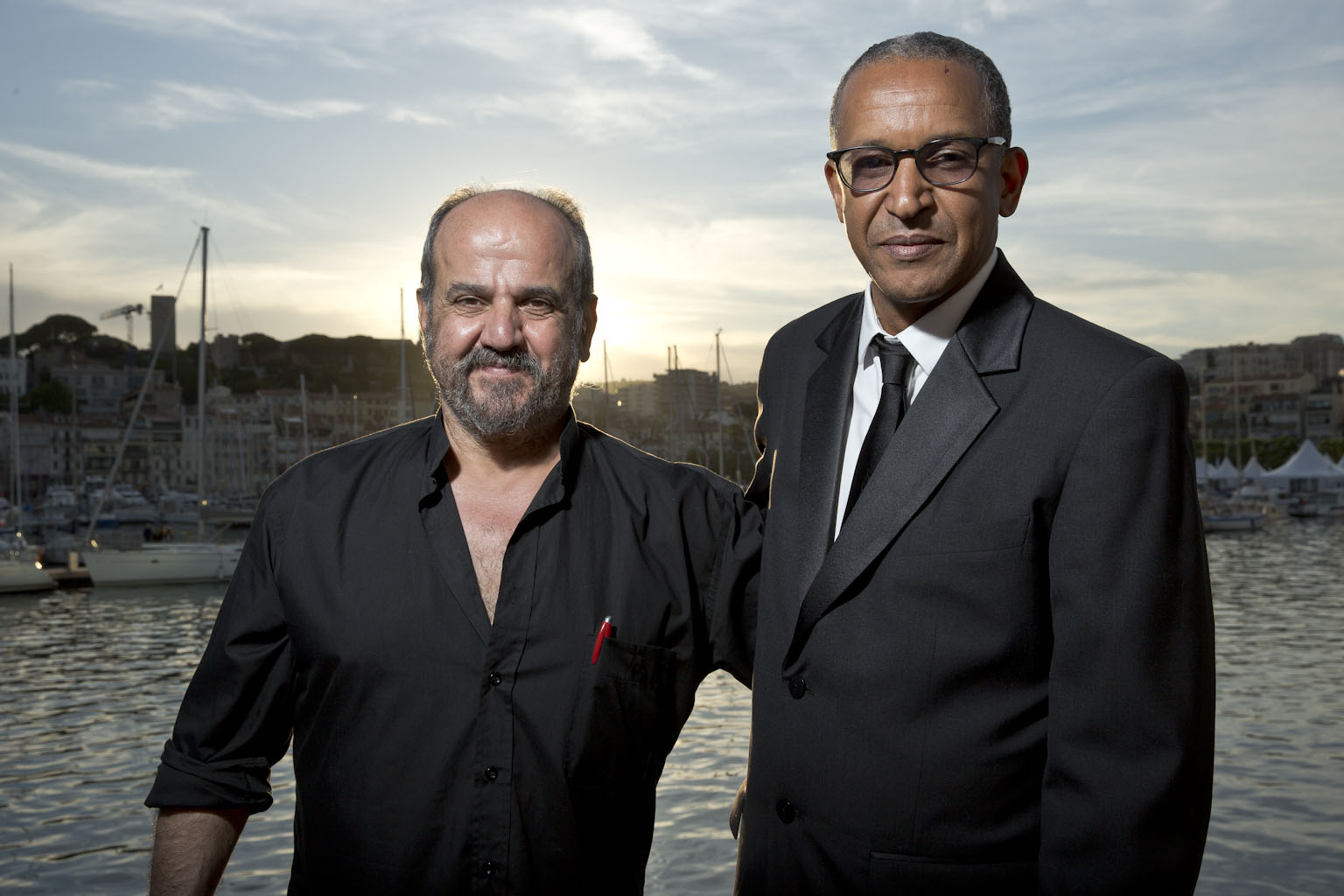 "Oussama Mohammad et Abderrahmane Sissako (réalisateur de ""Timbuktu"") © Paul Blind"