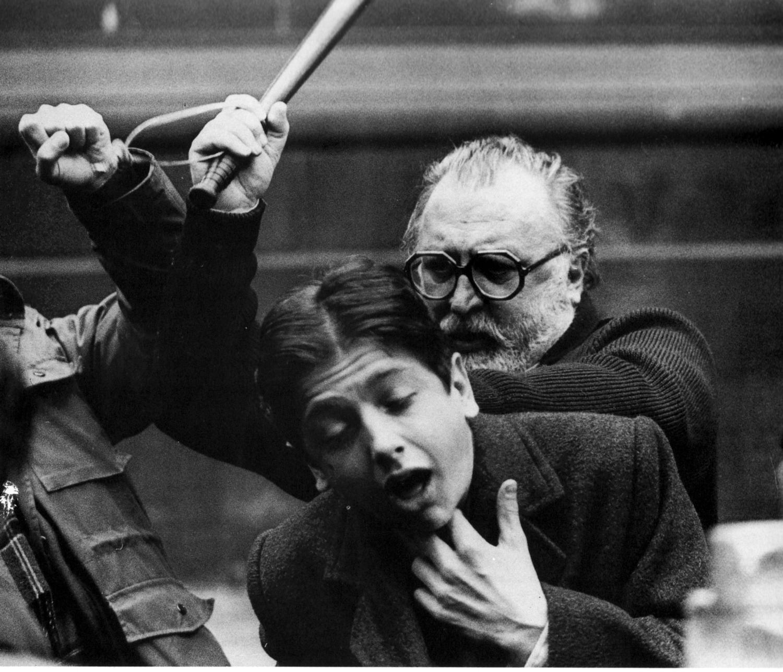 Sergio Leone répète une scène de Il était une fois en Amérique
