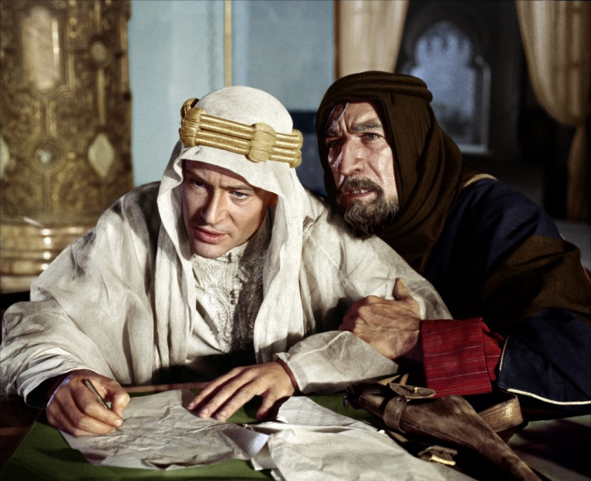Peter O'Toole et Anthony Quinn dans Lawrence d'Arabie