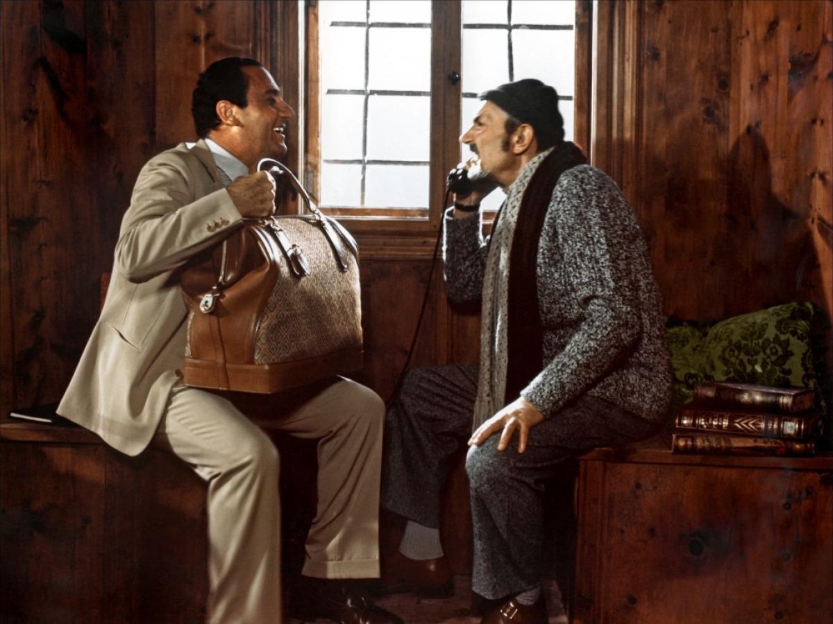 Alberto Sordi et Pierre Brasseur dans La Plus Belle Soirée de ma vie