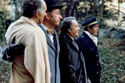 Michel Piccoli, Philippe Noiret, Ugo Tognazzi et Marcello Mastroianni dans La Grande Bouffe de Marco Ferreri © Studiocanal