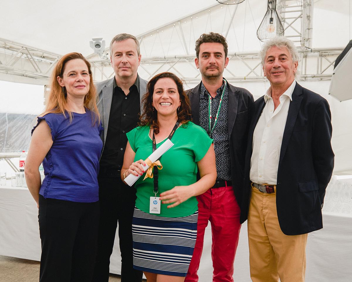 Annamaria Lodato, Olivier Père, Soudade Kaadan, Nadim Cheikhrouha et Georges Goldenstern © Bertrand Noël