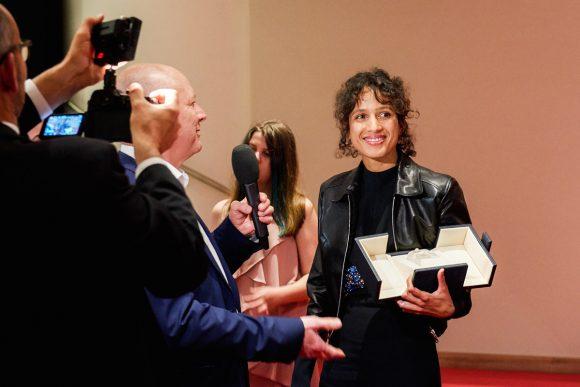 Mati Diop, grand prix du Festival de Cannes pour son film Atlantique © Bertrand Noël