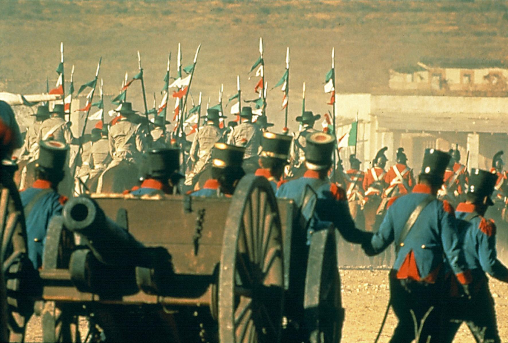 Zur arte-Sendung am 01. Januar 2000 um 20.50 Uhr Alamo 3: Der Aufmarsch der mexikanischen Truppen Fotos: ARTE FRANCE