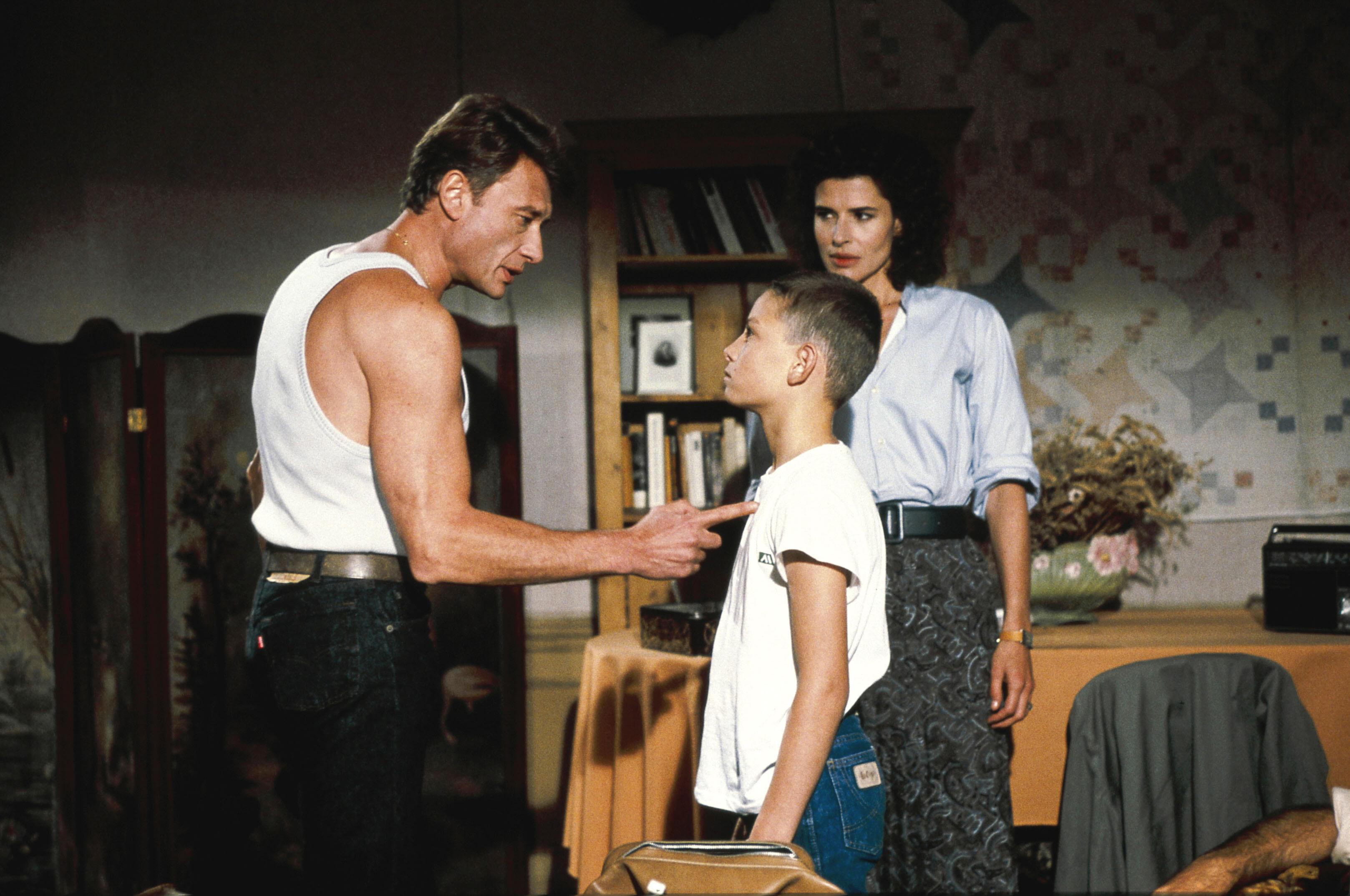 Johnny Hallyday et Fanny Ardant dans Conseil de famille de Costa-Gavras