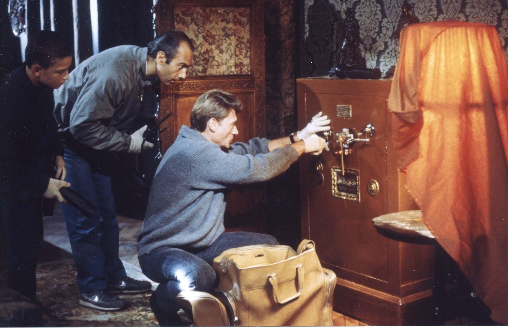Guy Marchand et Johnny Hallyday dans Conseil de famille de Costa-Gavras