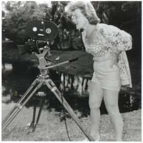 Doris Wishman sur un tournage