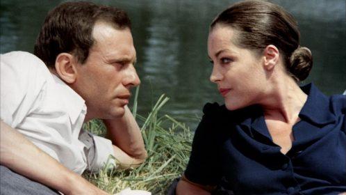 Jean-Louis Trintignant et Romy Schneider dans Le Train de Pierre Granier-Deferre