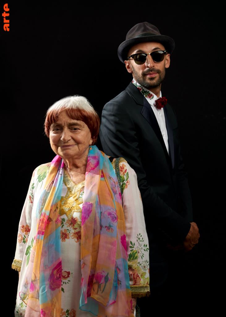 Agnès Varda et JR © Bertrand Noel
