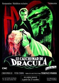 """Affiche de """"Le Cauchemar de Dracula"""" de Terence Fisher."""