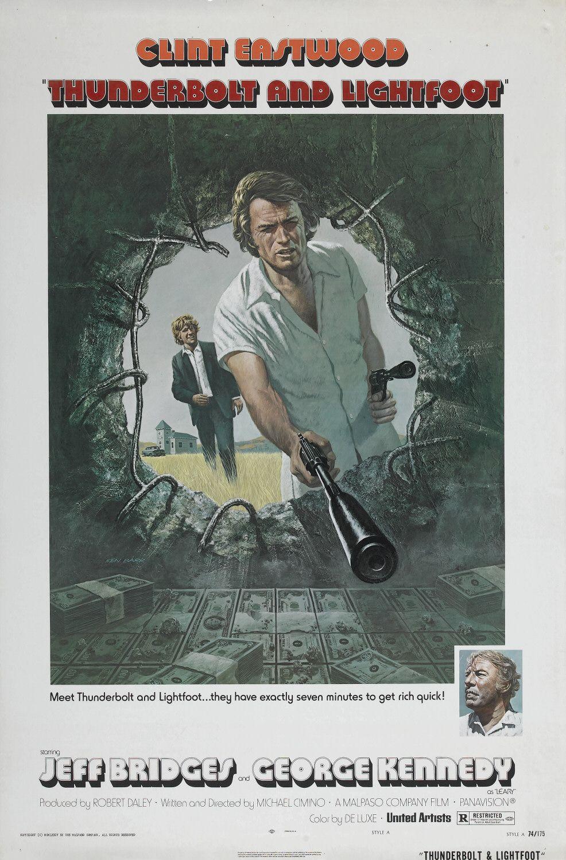Affiche américaine du Canardeur de Michael Cimino (1974).