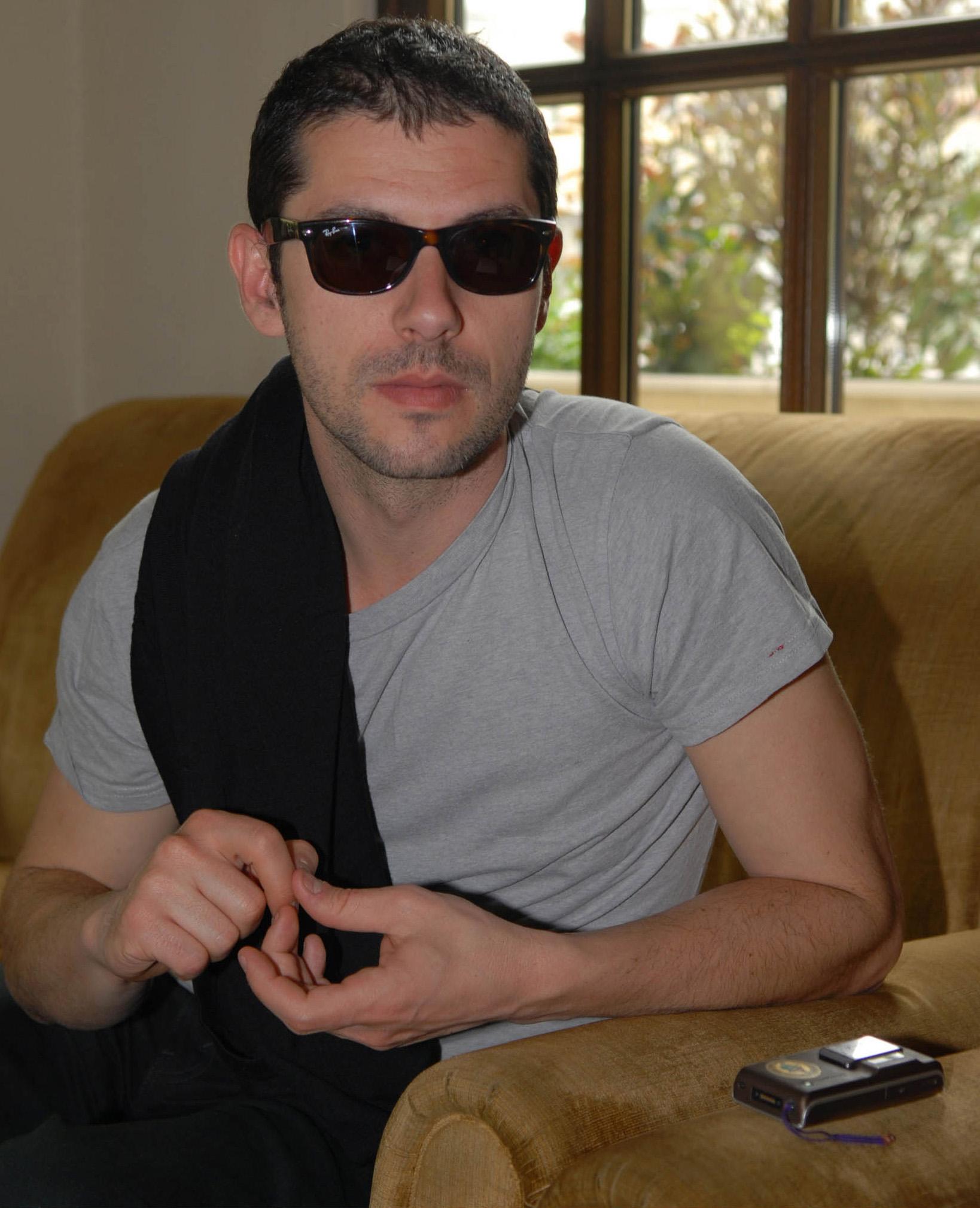 Melvil Poupaud à Athènes en avril 2008. Photo d'Helen Grigoriadou.