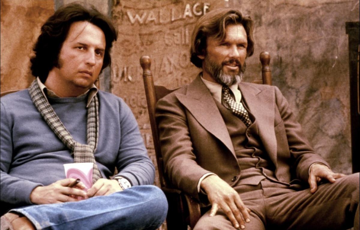 Michael Cimino et Kris Kristofferson sur le tournage de La Porte du paradis (1980)