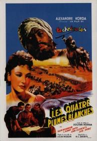 Affiche française de Les Quatre Plumes blanches de Zoltan Korda (1939)