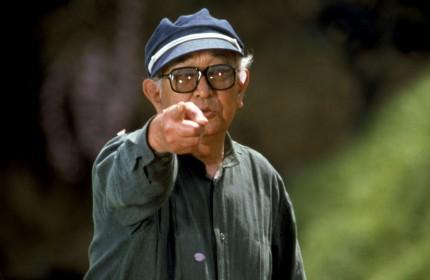 Akira Kurosawa sur le tournage de Rêves (1990)