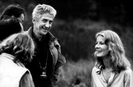 Alain Resnais et Nicole Garcia sur le tournage de Mon oncle d'Amérique (1980)