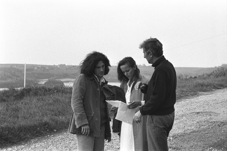 Philippe Garrel, Christine Boisson et Maurice Garrel sur le tournage de La Cicatrice intérieure et Liberté, la nuit (1972)