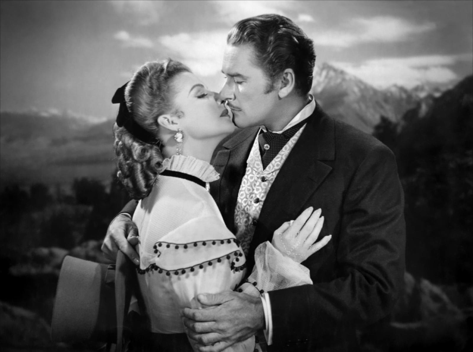 Errol Flynn et Ann Sheridan dans La Rivière d'argent (1948)