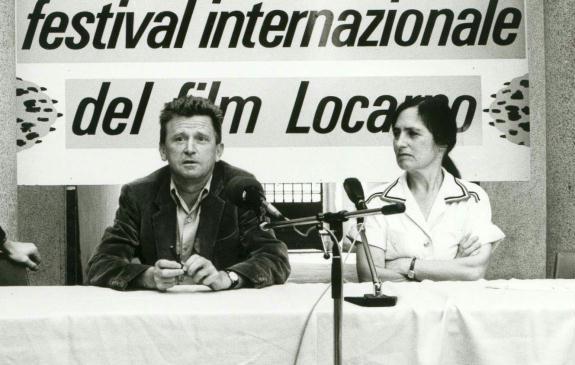 Jean-Marie Straub et Danièle Huillet au Festival del film Locarno (1984)
