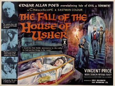 Affiche américaine de La Chute de la maison Usher (1960)