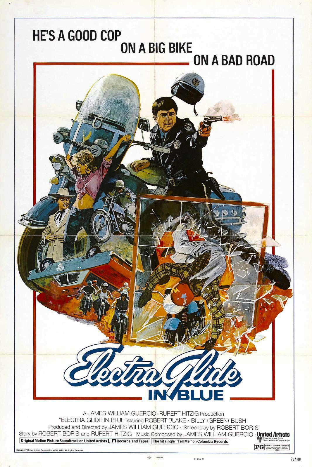 Affiche américaine d'Electra Glide in Blue (1973)