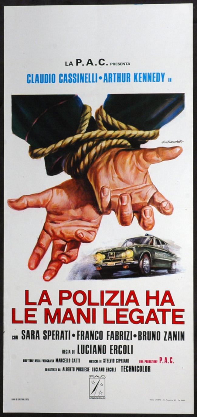 Affiche italienne de La Police a les mains liées