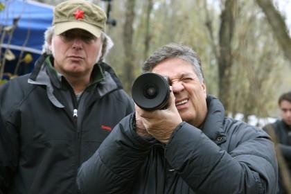 Renato Pozzetto sur le tournage de son film Un amore su misura