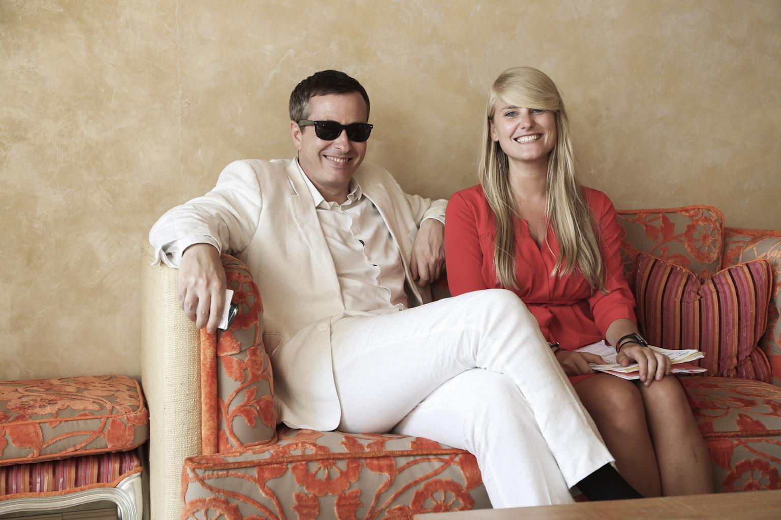 Olivier Père avec Anastasia Nastaj