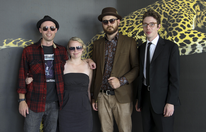 Ape, Cineasti del presente, from left: Joel Potrykus director, Ashley Young producer, Michael Saunders producer, Joshua Burge actor