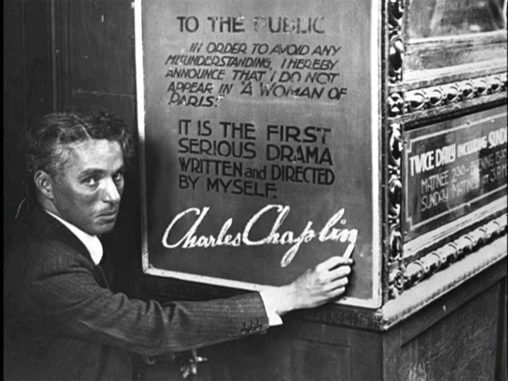 Chaplin durant la promotion de L'Opinion publique (1923)