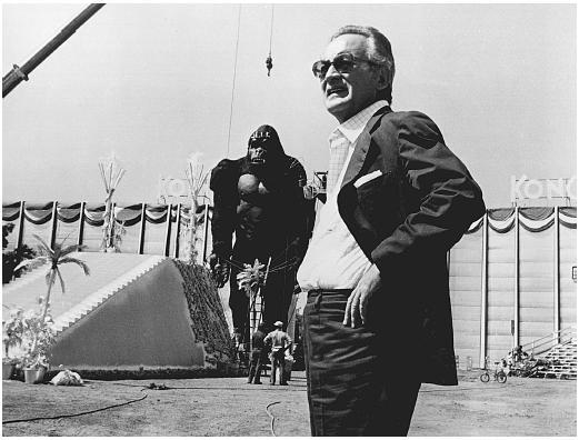 Dino De Laurentiis sur le tournage de King Kong