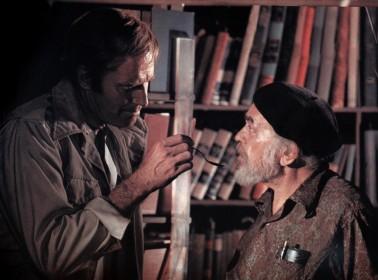 Charlton Heston et Edward G. Robinson (dans son dernier rôle)