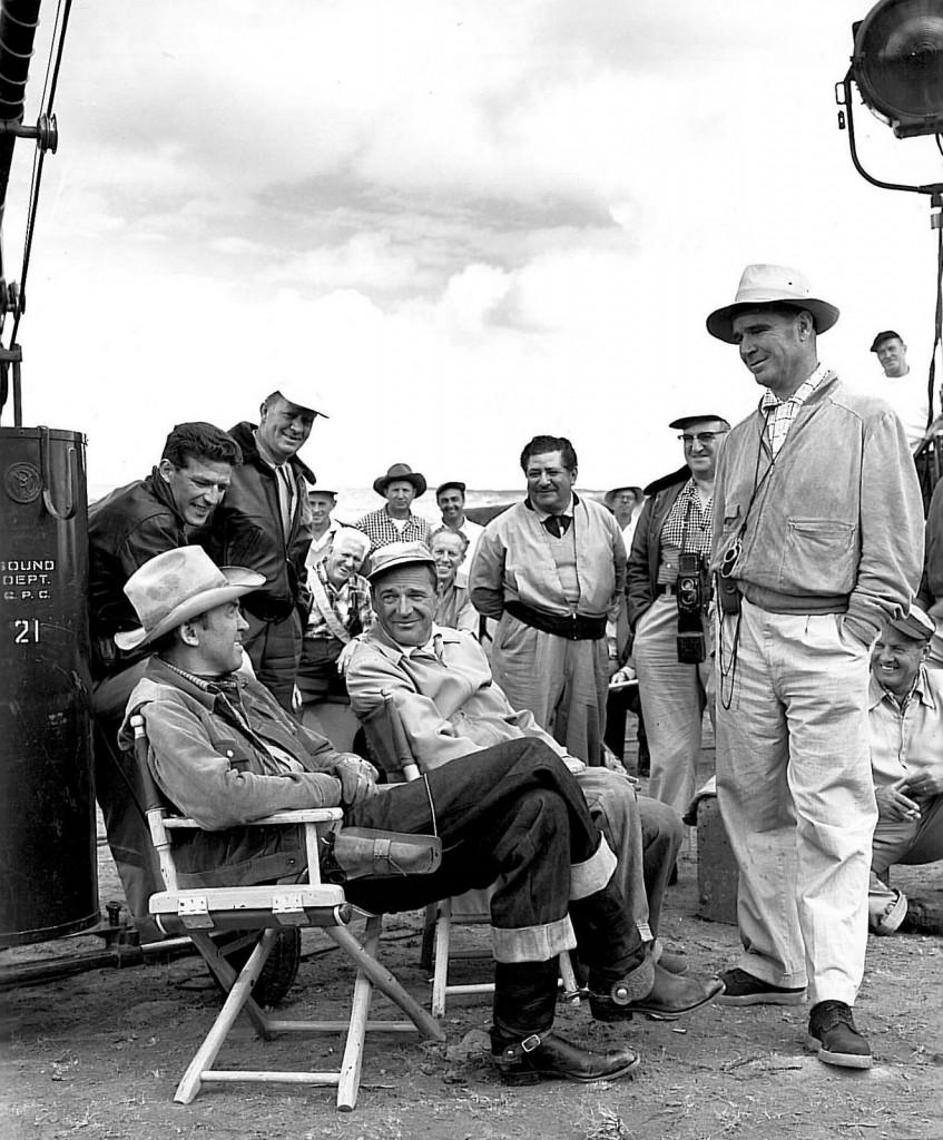 James Stewart et Anthony Mann sur le tournage de Winchester 73