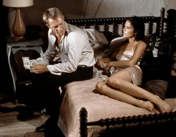 Steve McQueen et Ali MacGraw dans Guet-apens de Sam Peckinpah
