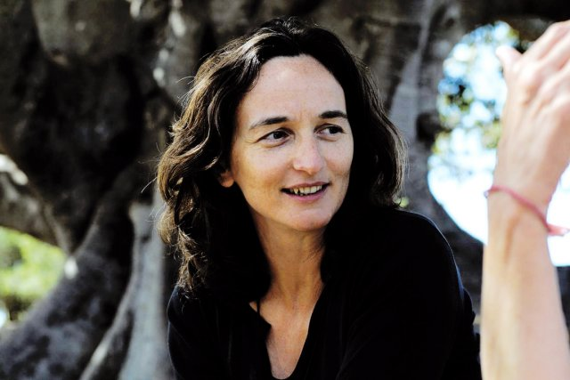 Julie Bertuccelli sur le tournage de L'Arbre