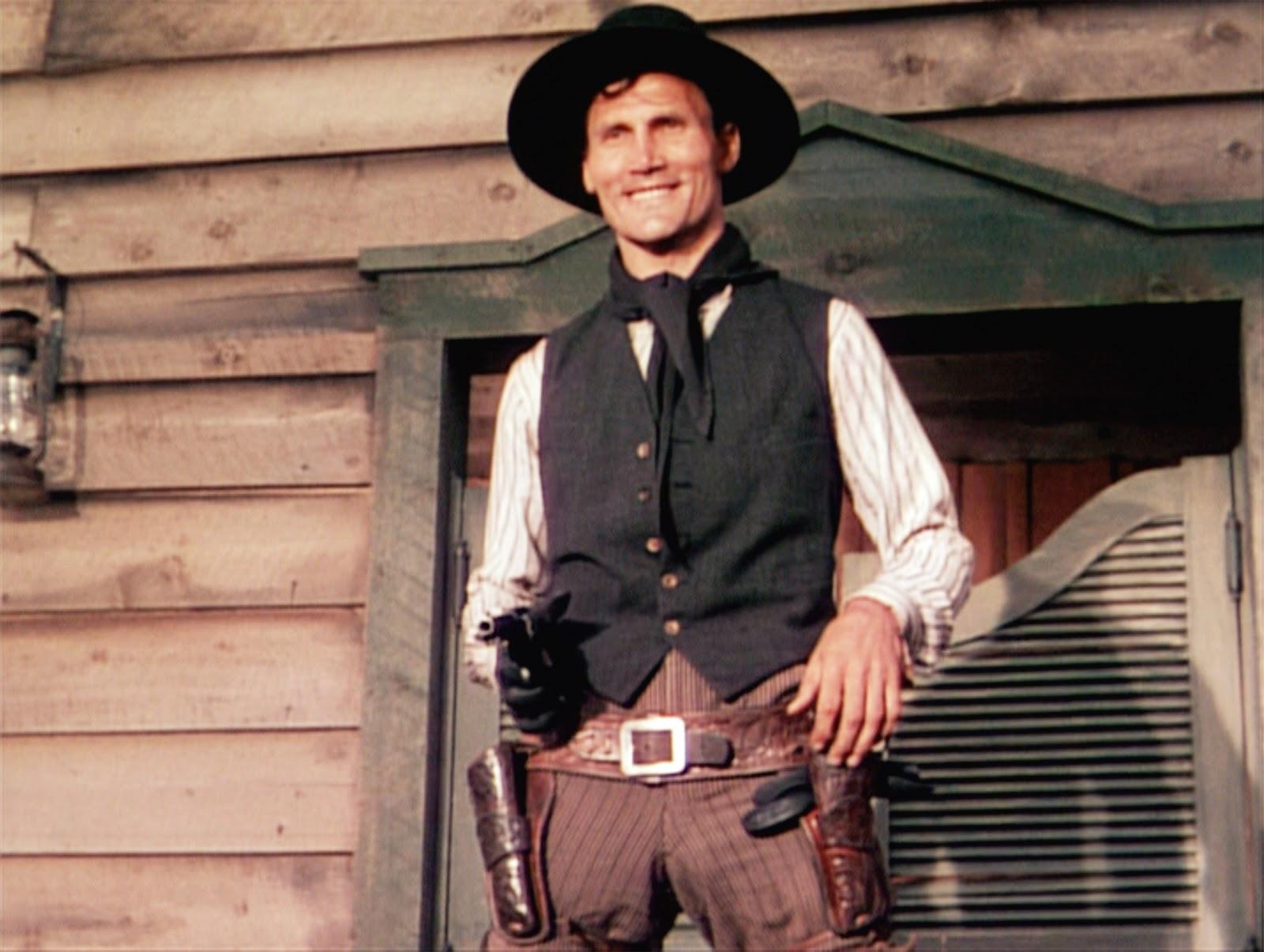 Jack Palance dans L'Homme des vallées perdues