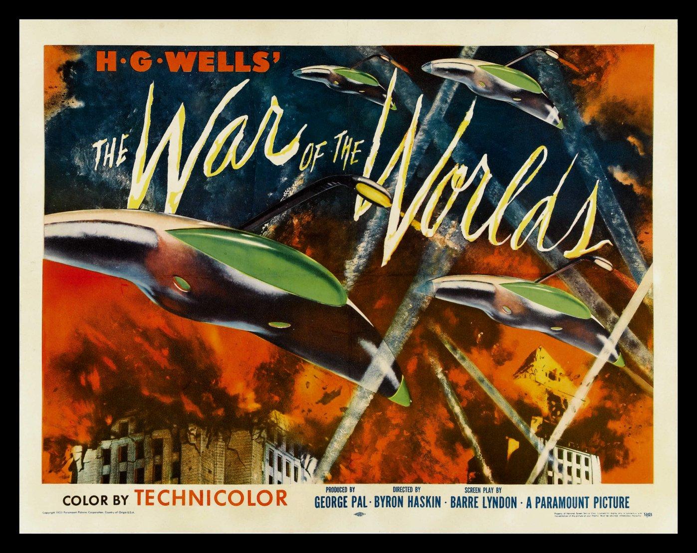 Affiche américaine de La Guerre des mondes de Byron Haskin