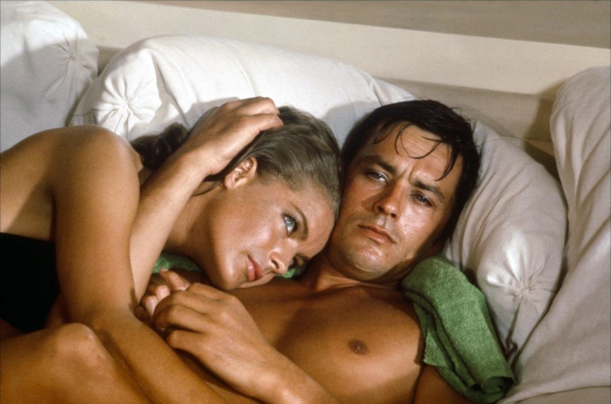 Romy Schneider et Alain Delon dans La Piscine