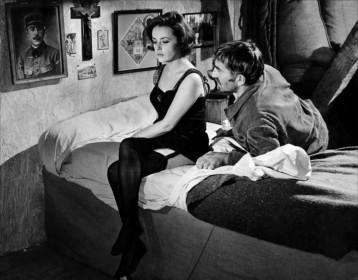 Jeanne Moreau et Georges Géret dans Le Journal d'une femme de chambre