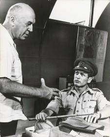Otto Preminger et Paul Newman sur le tournage de Exodus
