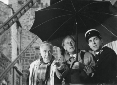 Victor Francen, Bourvil et Jean Poiret
